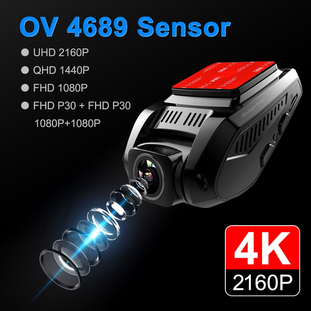 Car DVR 4K 2160P GPS WiFi ADAS Dash Cam Dual Lens 1080P+1080P Vehicle Car Camera Driving Recorder - 2