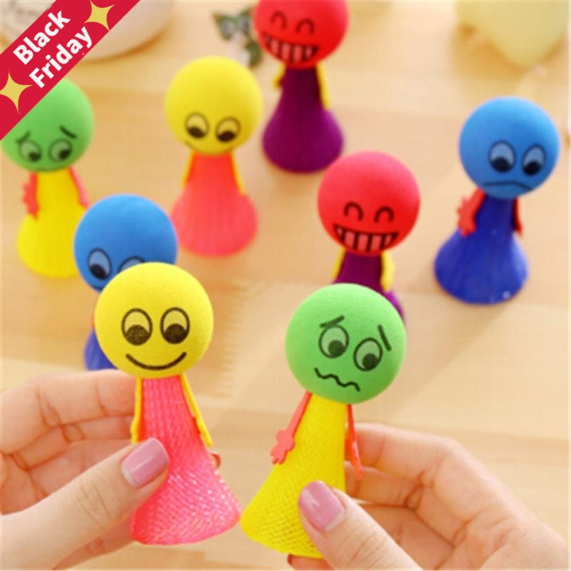 1/2/3/5Pcs/Pack Hip Hop Jumping Doll  Kids Bounce Ball Toys Educational Game Expressions Push&DownToys Gifts For Children Random