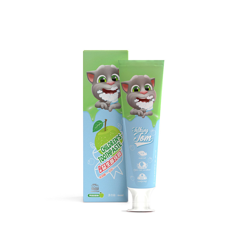 Talking Tom and Friends 1PC New Arrival Children Toothpaste Apple Flavor Anti-Caries Organic Teeth Whitening Cleaning