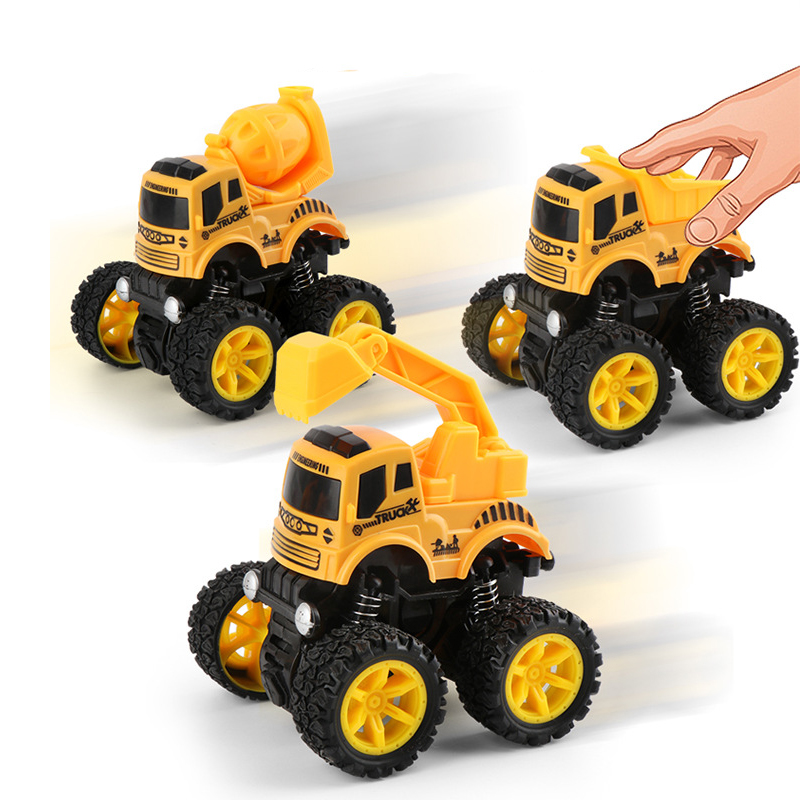Toys Car-4 Styles Mini Inertial Engineering Vehicle Excavator Blender For Children Fun Boy Engineering Truck Model Cars Toy