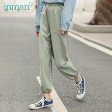 INMAN 2020 printemps nouveauté Style concis tout match couleur Pure loisirs littéraires cheville longueur crayon pantalon