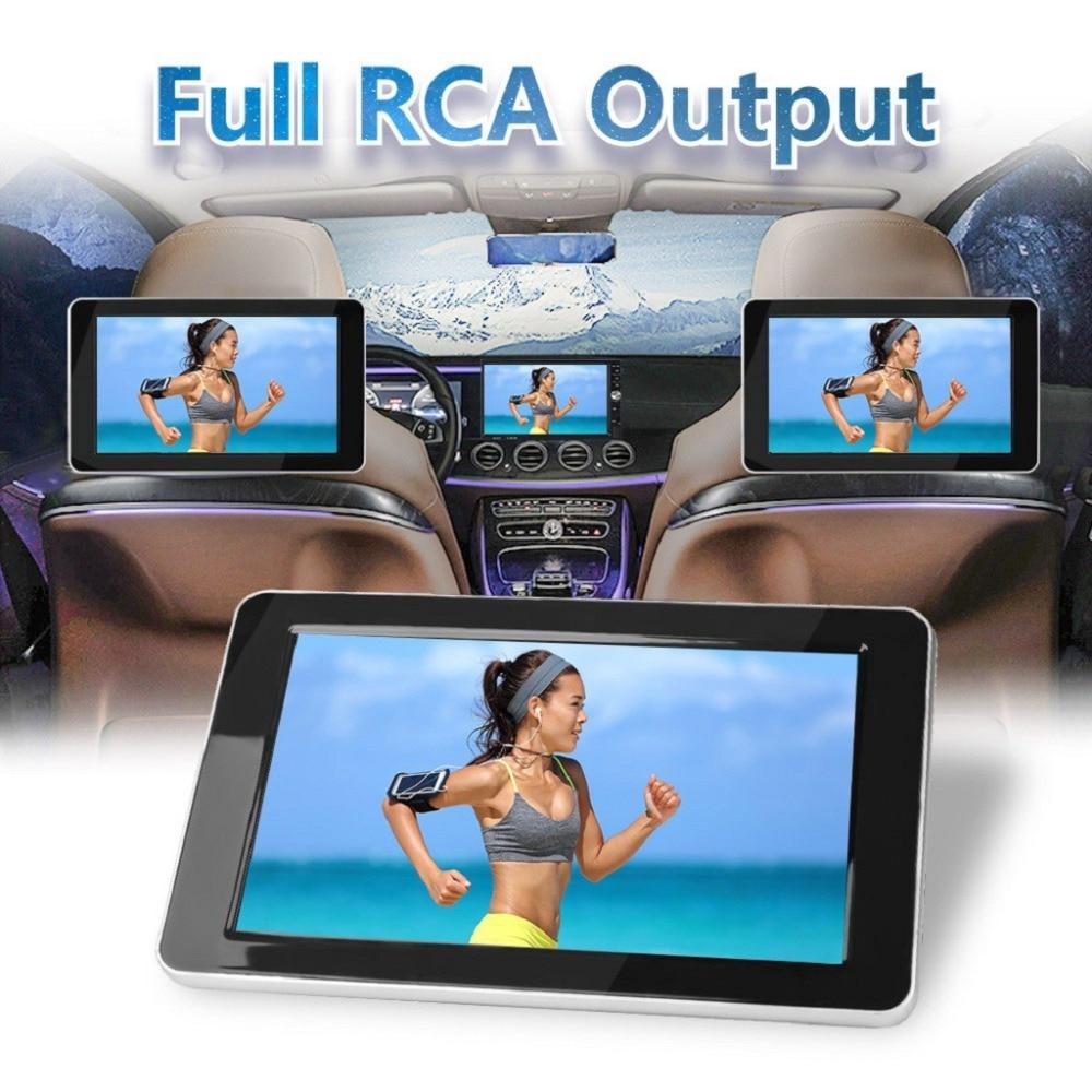 9 polegada tft a cores lcd encosto de cabeça dvd monitores 1024x600 hd entrada rádio av monitor para câmera retrovisor áudio do carro dvd player