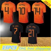 2021 Netherlands soccer shirt DE JONG Holland DE LIGT STROOTMAN VAN DIJK VIRGIL 2022 football jersey