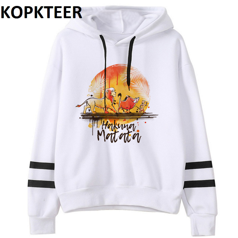 Worries Hakuna Matata Print Women Hoodie 2019 Funny Lion King Winter Gothic Hoodies Sweat Femme Tops Female Harajuku Clothes