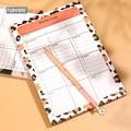 Nunca Leopard Grain Memo Pad Sticky Notes Estabelecer Metas Semanais Planejador Lista Para Fazer Almofadas de Memorando Kawaii Notepad Escritório Decoração Presente artigos de papelaria