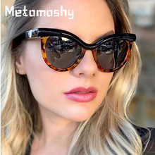 Cat Eye Sunglasses Women Luxury Brand Designer Vintage Female Semi-Rimless Frame Sun Glasses Oculos Feminino