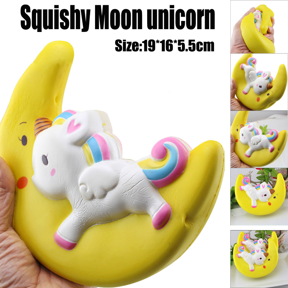 Toys For Children Cartoon Enormous Moon Unicorn Scented Squishy Charm Slow Rising Simulation Kid Toy Juguetes Para Ninos