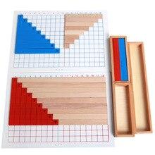 Деревянные игрушки Монтессори учебные пособия по математике профессиональная версия и Цзянь fa ban детская развивающая игрушка производители D