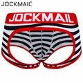 JOCKMAIL Brand Sexy Men Underwear Jockstrap Breathable Cueca Gay Boxerhombre Cotton Boxer Shorts Pants Low Waist Thongs Gstring