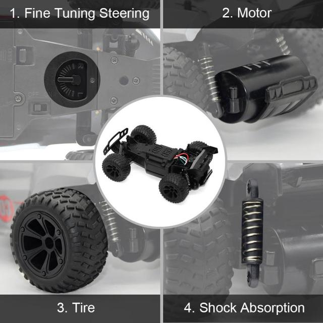 New 2.4G RC Cars Remote Control High-speed Four-wheel Drifting SUV Children's Educational Remote Control Toy kids xmas gifts 3