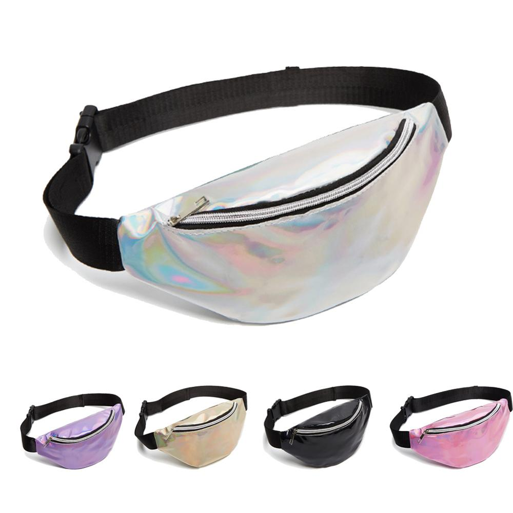 Meijuner Shinning Laser Waist Bag Women Stylish Funny Pack Outdoor Running Or Walking Messenger Chest Waist Bag WMJ011