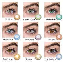 Lentes de contato cor-de-rosa anime cinza verde azul sobrancelha forros coloridos para olhos cosméticos olho contatos anime cosplay olho brilhante
