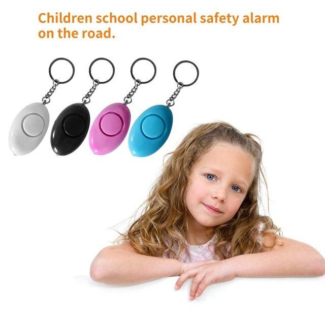 Personal Safety Alarm Keyring Anti-attack Security Protection Emergency Alarm Children School Alert Mini Egg Shape Women LESHP 6