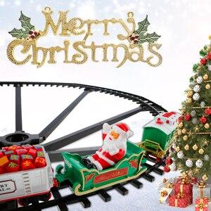 Trem de trem de trem de trem de trem elétrico de natal conjunto de trem de corrida de transporte rodoviário brinquedos de construção de crianças presente