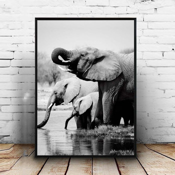 DIY Diamond Painting Cross Stitch Elephant family5D Diamond Embroidery animal Full Square Mosaic Needlework home decoration M747 image