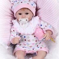 16 Lifelike Cute Reborn Baby Soft Silicone Girl Baby Doll Full Body Dolls Reborn Baby Doll Silicone Baby Dolls