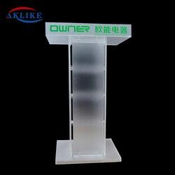 Modern Church Pulpit Aklike For Rednerpult Digital Rostrum Design Acrylic Reception Desk Banquet Speech Rostrum With Angled Read