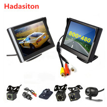 Car-Monitor Rearview-Camera Lcd-Screen Reversing 5inch 2-Video-Input TFT with Optional