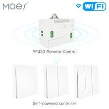 Rf433 Беспроводной Выключатель без аккумулятора настенный светильник
