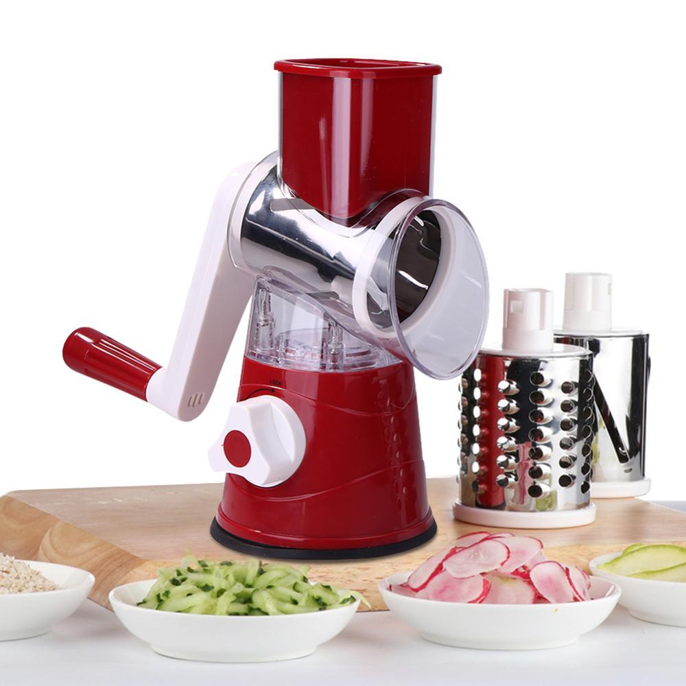 Manual Vegetable Cutter Slicer Multifunctional Round Mandoline Slicer Potato Cheese Kitchen Gadgets Kitchen Accessories