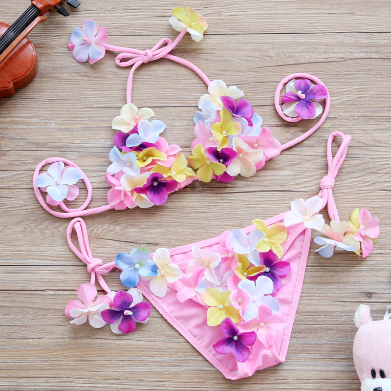 KID'S Swimwear Cute Flower Bikini Tour Bathing Suit Girls GIRL'S Princess Baby Two-piece Swimsuits