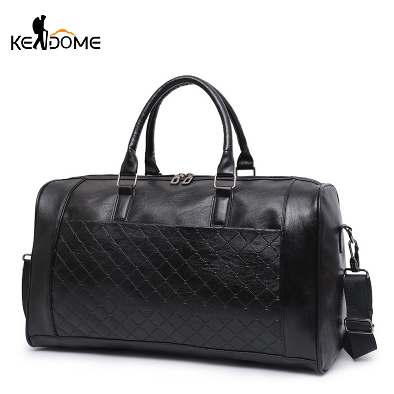 PU Leather Gym Bag Large Training Sports Bag For Men Women Travel Yoga Handbag Fitness Multifunction Shoulder Crossbody XA722WD