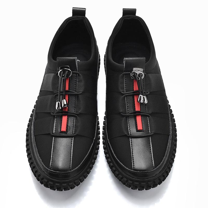 Chaussures décontractées populaires pour hommes marque baskets en cuir de créateur hommes noir jeune chaussures hommes décontractées marque de luxe chaussures pour hommes | AliExpress