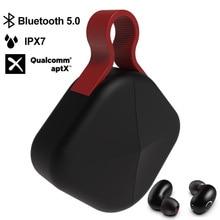 Tws fone de ouvido sem fio bluetooth 5.0 suporte aptx/aac 45h tempo de jogo para ios/android ipx7 à prova dwaterproof água atualizar