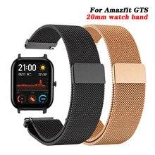 Für Amazfit GTS Strap Milanese Magnetische Schleife Edelstahl Armband für Xiaomi Huami Amazfit Bip/GTR 42mm Metall armband 20mm