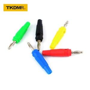 TKDMR 5pcs 4MM Banana Plug Audio Speaker Connectors Amplifier Speaker Binding Post 4mm Banana Jack Plug For Cable Terminals(China)