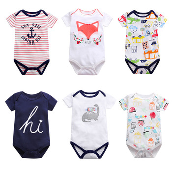 New Summer Baby girls Boys Romper Short Sleeve infant rompers Jumpsuit cotton Baby Rompers Newborn Clothes Kids clothing baby romper infant toddler boys gentlemen clothes bowknot long sleeve cotton rompers body clothing jumpsuit