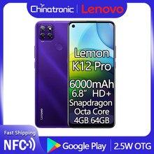 Оригинальный телефон Lenovo Lemon K12 Pro 64 аппарат не привязан к оператору сотовой связи 6,8