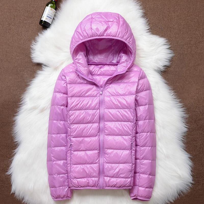Puffer Jacket Coat Parka Spring Ultra-Light Plus-Size Winter 90%White-Duck-Down Women
