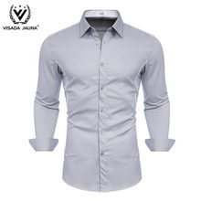 VISADA JUANA 2019 Men Shirts Fashion Brand Business Long Sleeve Designed Men Shirts Y148(China)