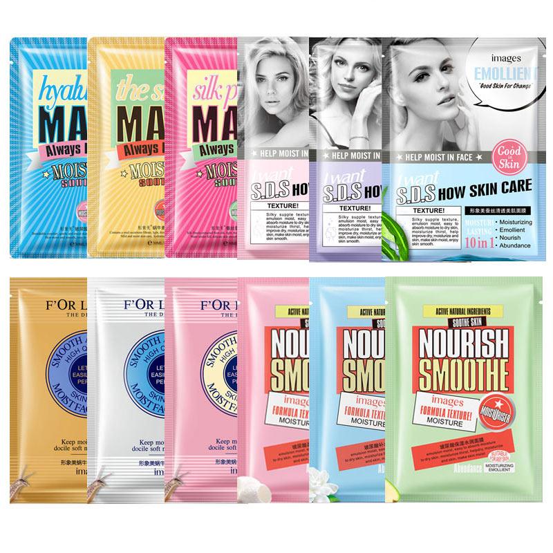 3 Pcs/set Bioaqua Silk Protein Face Mask Oil-control Replenishment Black Head Facial Sheet Mask Skin Care Beauty Korean Makeup