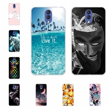 For Alcatel 3 3L 2019 Cover Ultra Slim Soft Silicone Case Flowers Patterned Shell Capa