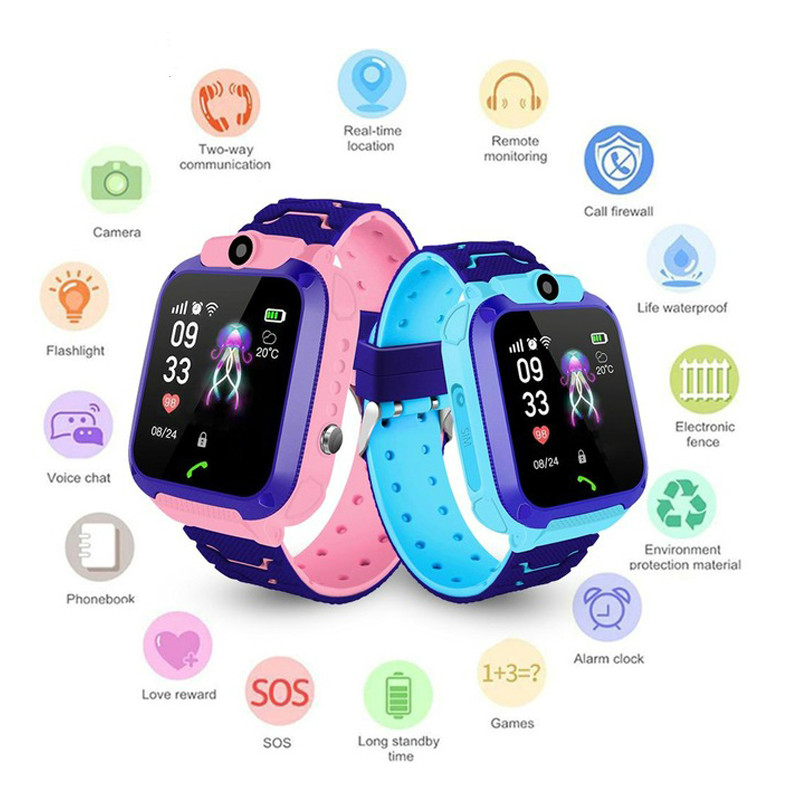 Smart Watch LBS Kid Smart Watches Baby Watch For Children SOS Call Location Finder Locator Tracker Anti Lost Voice Chat SIM Card