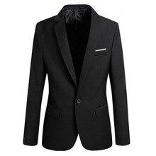Роскошные Для мужчин Slim Fit блейзер Модные однотонные Для мужчин s пиджак свадебное платье пальто Повседневное Бизнес мужской пиджак
