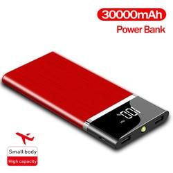 Портативное зарядное устройство 30000 мАч, большой емкости, ЖК-дисплей, цифровой дисплей, подходит для зарядного устройства смартфона, внешни...