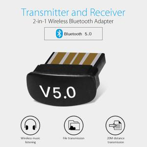 Mini USB Bluetooth Adapter 5.0 Bluetooth Audio Receiver Transmitter 20M Wireless Adapter Supports Win8/10 For Computer Laptop