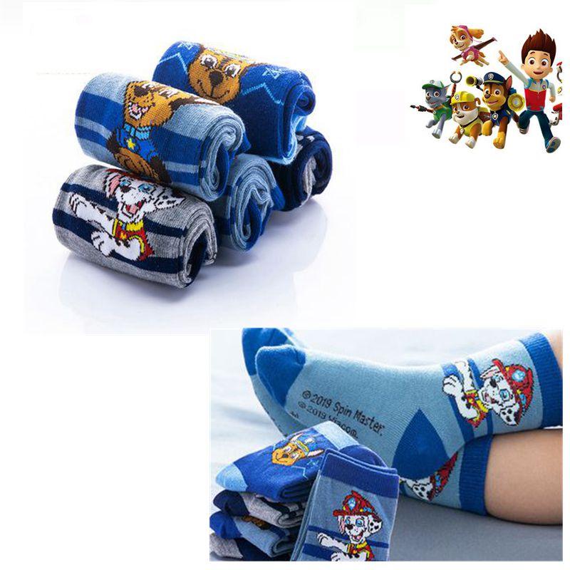2pcs=1pairs Genuine Paw Patrol Socks Kids Winter Warm Thicken Socks Action Children Birthday Chrismas Gift Kids1-12 Year
