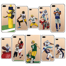 american football cover odell cornelious beckham jr soft silicone phone case for iphone 5 6 7 8 s plus 5s se x xr xs max jim jr smith football s true smash mouth offense robust football