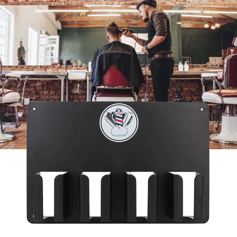 Wall-mounted Hairdresser Hair Clipper Holder Storage Rack Salon Accessory Stand Temperature Plastic Barber Tools Storage Case