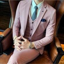 (Jackets+Vest+Pants) 2020 Men Suit Formal Business