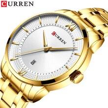 CURREN Luxury Man Wrist Watch Date Gold Stainless Steel Simplicity Modern Quartz Waterproof Mens Watches Business Erkek Kol Saat