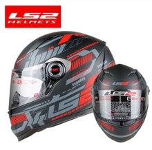Nuevo casco LS2 FF358 de Moto de cara completa para hombre y mujer, casco de carreras para moto capacete LS2, casco para moto, certificación ECE