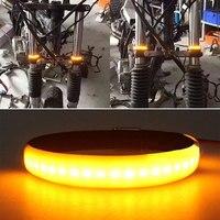 Vehemo turn signal light luz de advertência led amortecedor moto lâmpada sinal universal da motocicleta