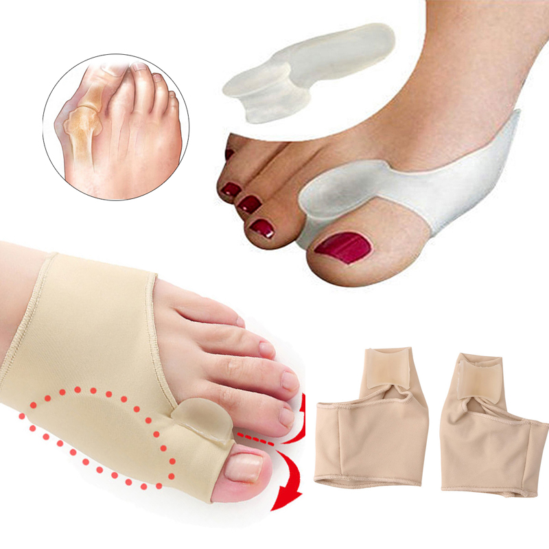 Hallux Valgus Corrector Silicone Toe Separator Orthosis Orthopedic Foot Bunion Corrector Stretcher Training Tool Foot Care Tools