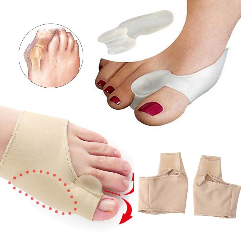 Hallux Valgus Corrector Silicone Toe Separator Orthosis Orthopedic Foot Bunion Corrector Stretcher Training Tool Foot Care Tools