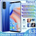 Глобальная версия смартфона Reno4 6,3 дюймов полный Экран 1 ГБ Оперативная память 8 ГБ Встроенная память телефона Android 6,0, не блокируется, Две сим-...